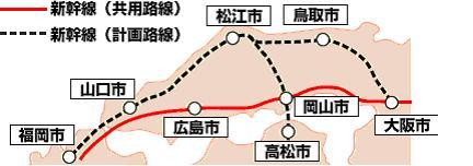 ●木次線、山口線の維持・活性化●中国横断新幹線、山陰新幹線の整備促進