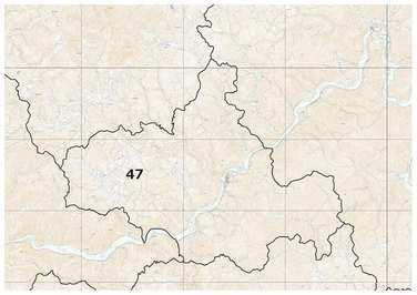 島根県:ため池位置図(川本町)(トップ / しごと・産業 ...
